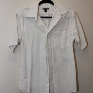 Basic White Button Down Shirt (short sleeve)